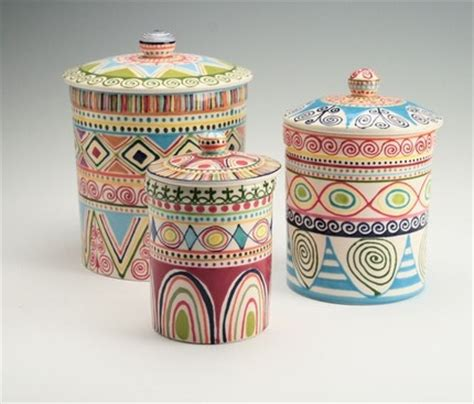 colorful kitchen canisters sets 17 best images about pottery canisters on pinterest