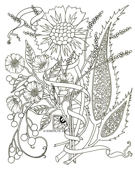 coloring pages adult flowers free coloring pages for kids