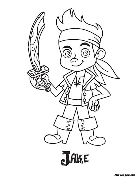 Printable Jake Pirates Coloring Pages Pirate Coloring Pages Printable