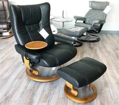 stressless leather recliner stressless wing paloma black leather recliner chair and