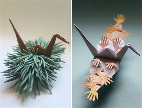 Beautiful Origami Paper - beautiful paper folding cranes by origami enthusiast