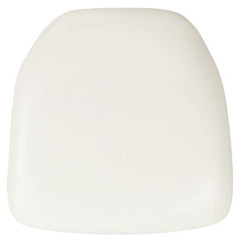 white chiavari cushion with velcro hard white vinyl chiavari chair cushion