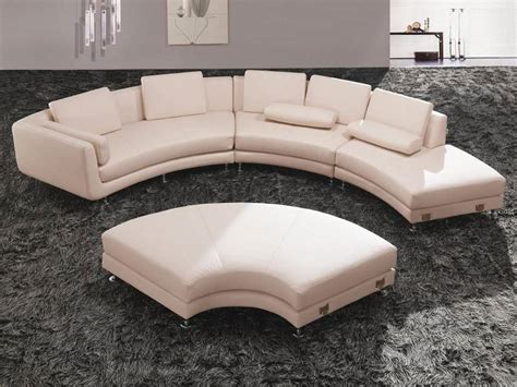 half circle couch design fashionable all real leather sectional with pillows plano