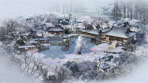china garden winter
