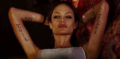angelina jolie tattoo quote the meaning behind angelina jolie s tattoos quotes