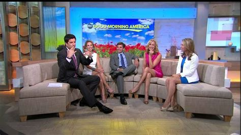 amy robach lara spencer ginger zee y legs amy robach lara spencer ginger zee leggy on couch