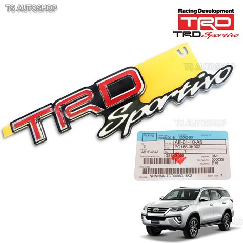 Autoparts1 Logo Trd Sportivo for toyota fortuner 2016 2017 genuine rear logo trd sportivo back emblem decal ebay