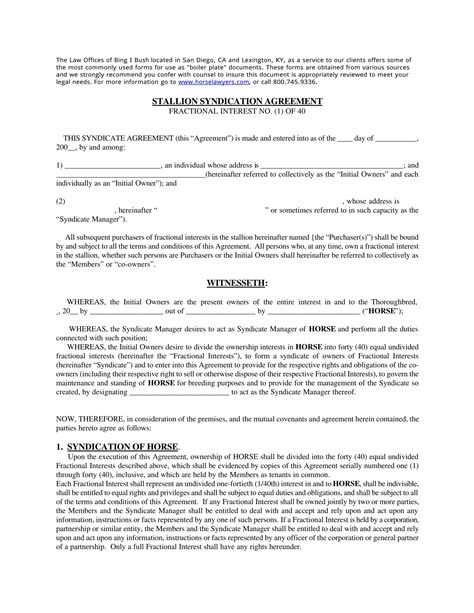 lottery agreement template 5 lotto syndicate agreement forms