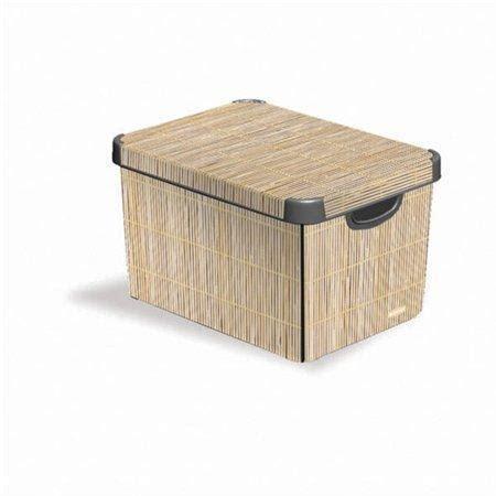 lada bambu box plastov 253 22 l se vzorem quot bambus quot curver dom 225 c 237