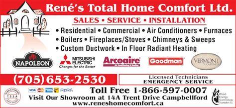 ontario home comfort inc rene s total home comfort ltd opening hours 14a trent