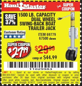 harbor freight boat trailer coupon harbor freight tools coupon database free coupons 25