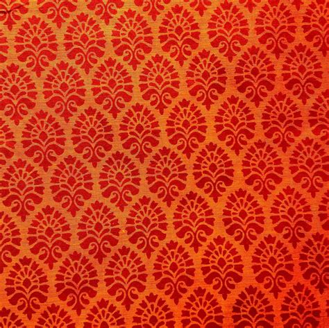 print fabric cotton fabric indian fabric orange block print fabric