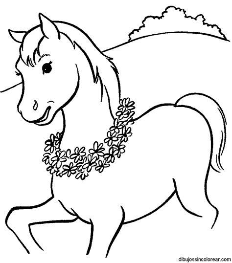 imagenes para dibujar sin color dibujos de caballos para colorear