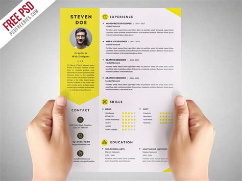 resume template free psd freebie clean resume cv template free psd by psd