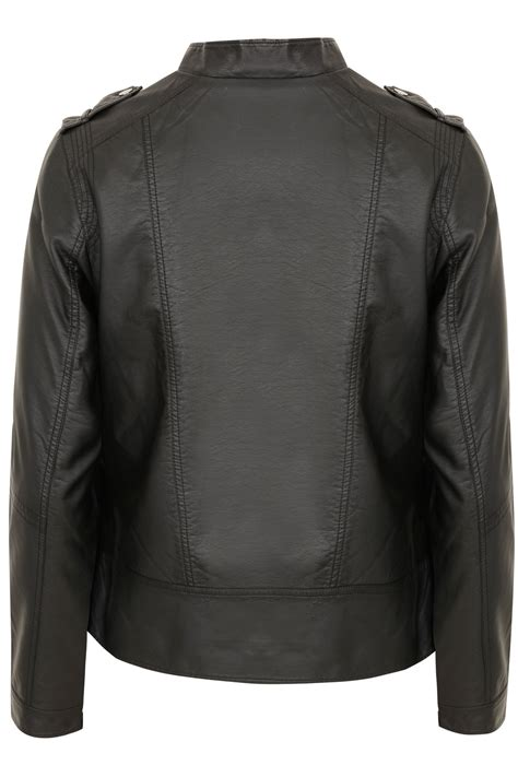 New Look Gift Card Ireland - black pu leather look biker jacket plus size 16 to 32