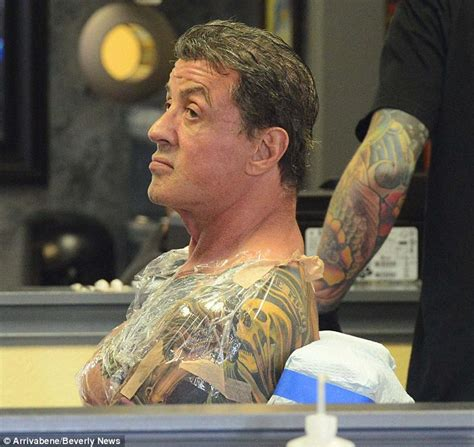 sylvester stallone tattoos sly stallone 66 adds to his collection at