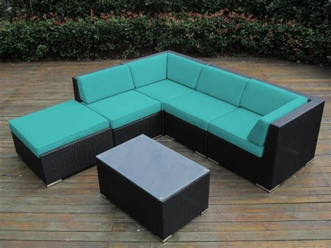 sunbrella sectional sofa ohana collection 6pc sunbrella outdoor sectional sofa set