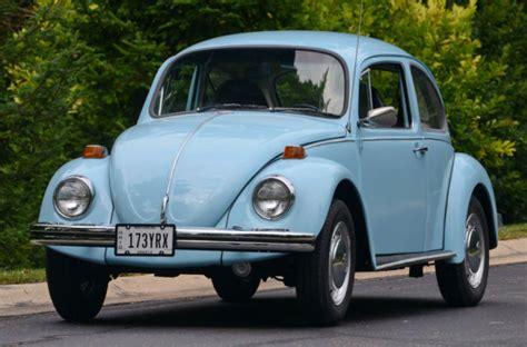 vw volkswagenaclassic beetle bug  reserve baby blue auto stick  sale  mount