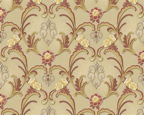 wallpaper large red damask on metallic gold background ebay 94338 1 hermitage 9 metallic gold red vintage damask