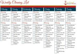 weekly and monthly cleaning schedule printable