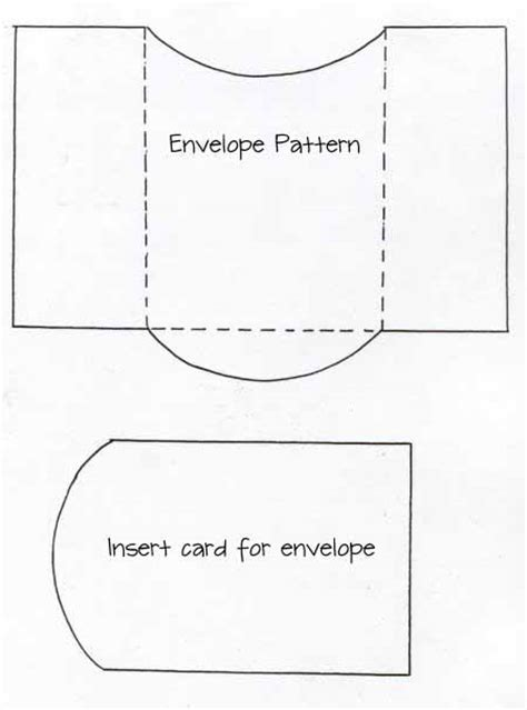 in template envelope and card insert template paper crafts