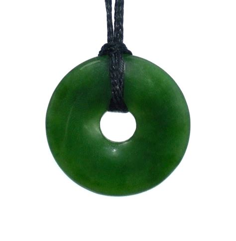 jade donut pendant 23mm