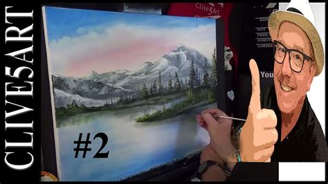 bob ross painting basics mountain and lake 2 n style acrylic painting