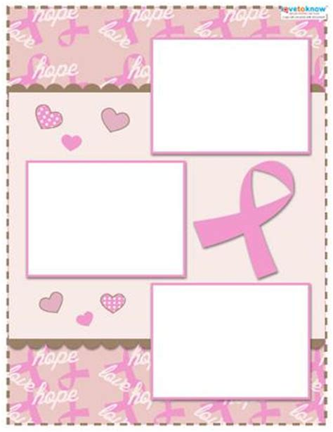 scrapbook layout software free breast cancer awareness scrapbook layouts lovetoknow