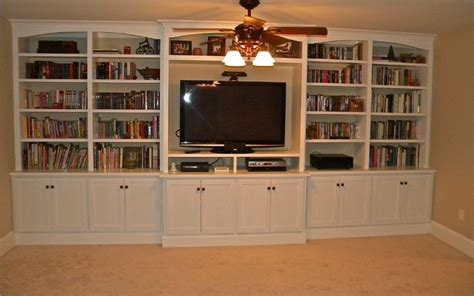 built in entertainment center bookshelves eclectic