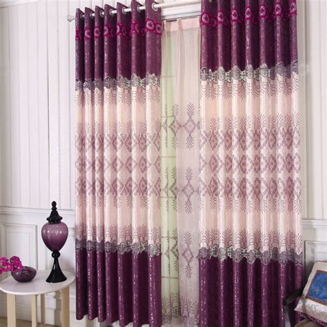 fancy and fashion modern curtains designs in purple
