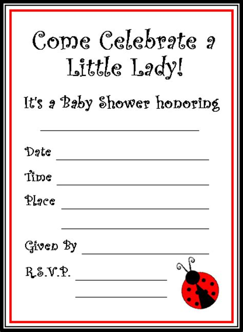 Free Map Printables For Baby Shower New Calendar Template Site Free Printable Ladybug Baby Shower Invitations Templates