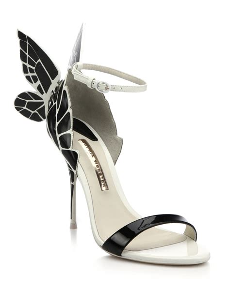 webster chiara butterfly patent leather sandals in