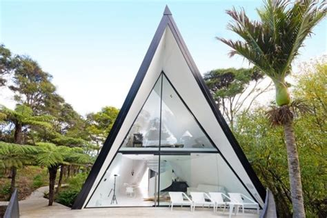 modern a frame house plans tiny house talk modern and luxurious tiny a frame cabin in waiheke island