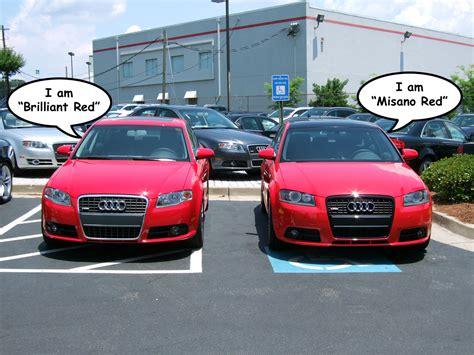 Audi A1 Sportback Misano Red by Authoritative Misano Red Vs Brilliant Red Comparison
