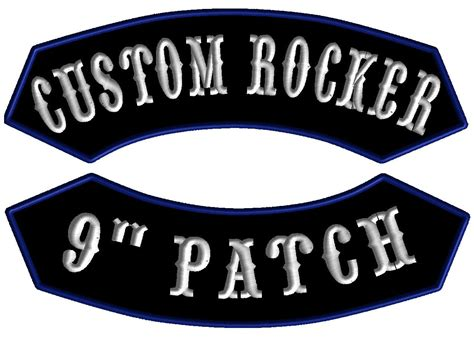 rocker patch template 9 quot custom embroidered pointed rocker patch clinch customs