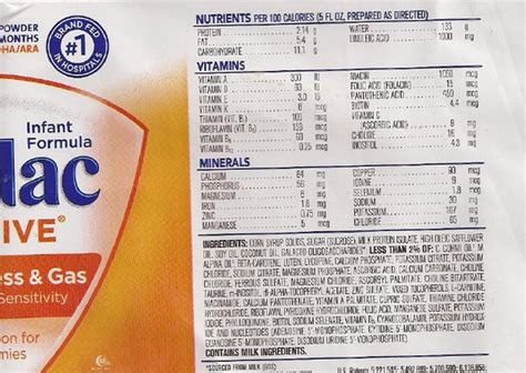 similac total comfort vs similac sensitive similac sensitive formula nutrition facts nutrition ftempo