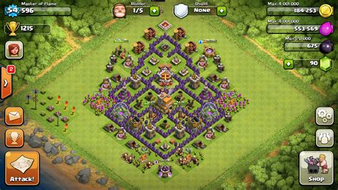 layout of coc th7 town hall 7 clash of clans