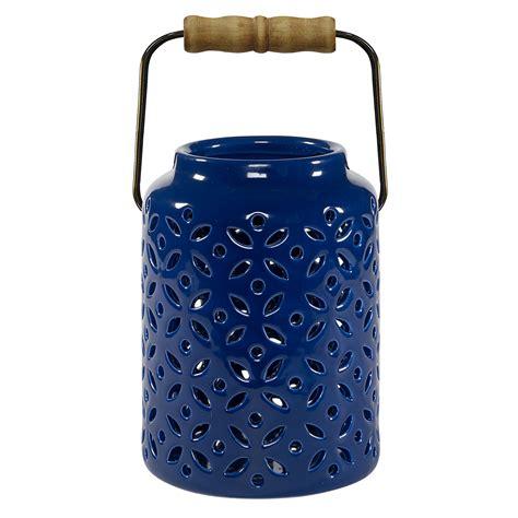 Home Design Outdoor Living Credit Card essential garden ceramic lantern southwest blue