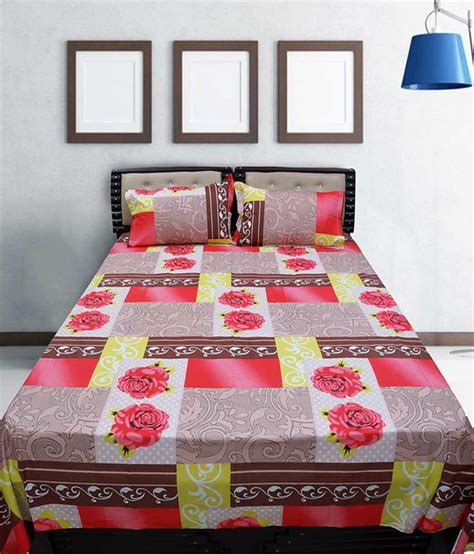 snapdeal home decor everyday home decor cotton bed linen with pillow covers
