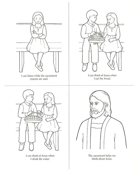 coloring pages lds sacrament happy clean living primary 3 lesson 33