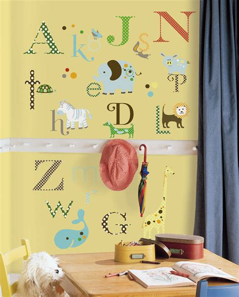 animal alphabet wall stickers stickers for wall com