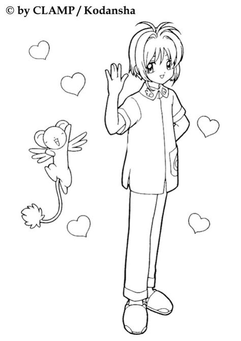 sakura the card captor and kereberus coloring pages