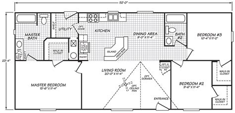 3 bedroom wide trailer wide floor plans 3 bedroom family room with a