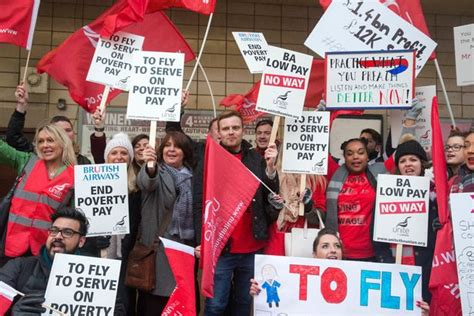 Thomson Airways Cabin Crew Salary by Low Pay No Way Chants As Airways Cabin Crew Take