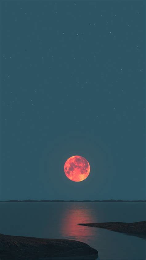 wallpaper for iphone 5 moon red moon sunset iphone 5 wallpaper 640x1136