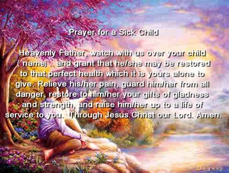 prayer for sick prayer for a sick child quotes www imgkid the image kid has it