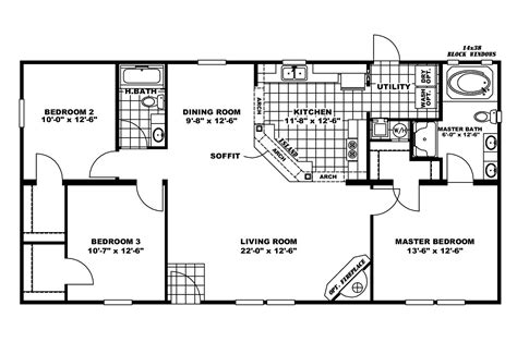 manufactured home floor plan 2008 norris elkmont c2852b