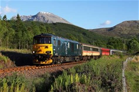 Sleeper To Fort William by Fifth Class 73 9 In Scotland For Sleeper Duty