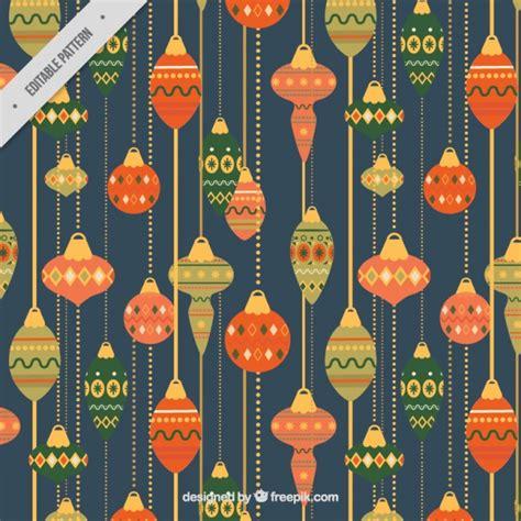 christmas pattern vintage vintage decorative pattern of christmas balls vector