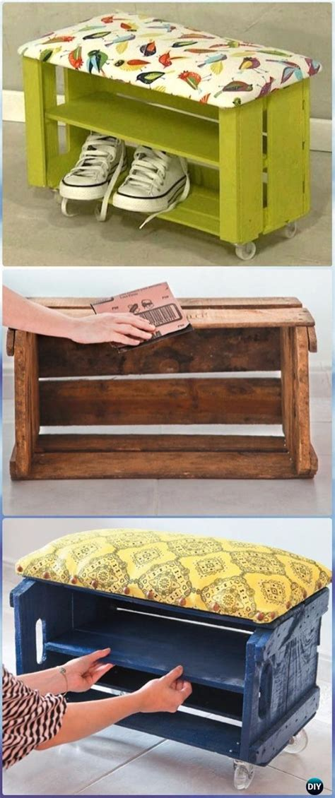 33 shoe storage ideas diy wooden crate shoe rack diy wood crate furniture ideas projects